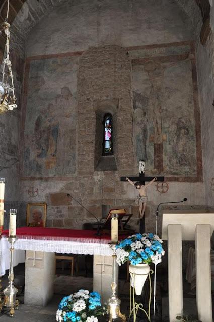 Romański kościół Najświętszego Salwatora w Krakowie - gotyckie freski