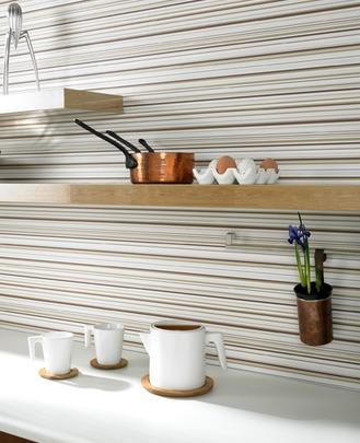 Menampal Wallpaper Pada Dinding Dapur Merupakan Cara Lain Untuk Menambahkan Aksen Dekorasi Banyak Dipasaran Boleh Dijadikan Hiasan
