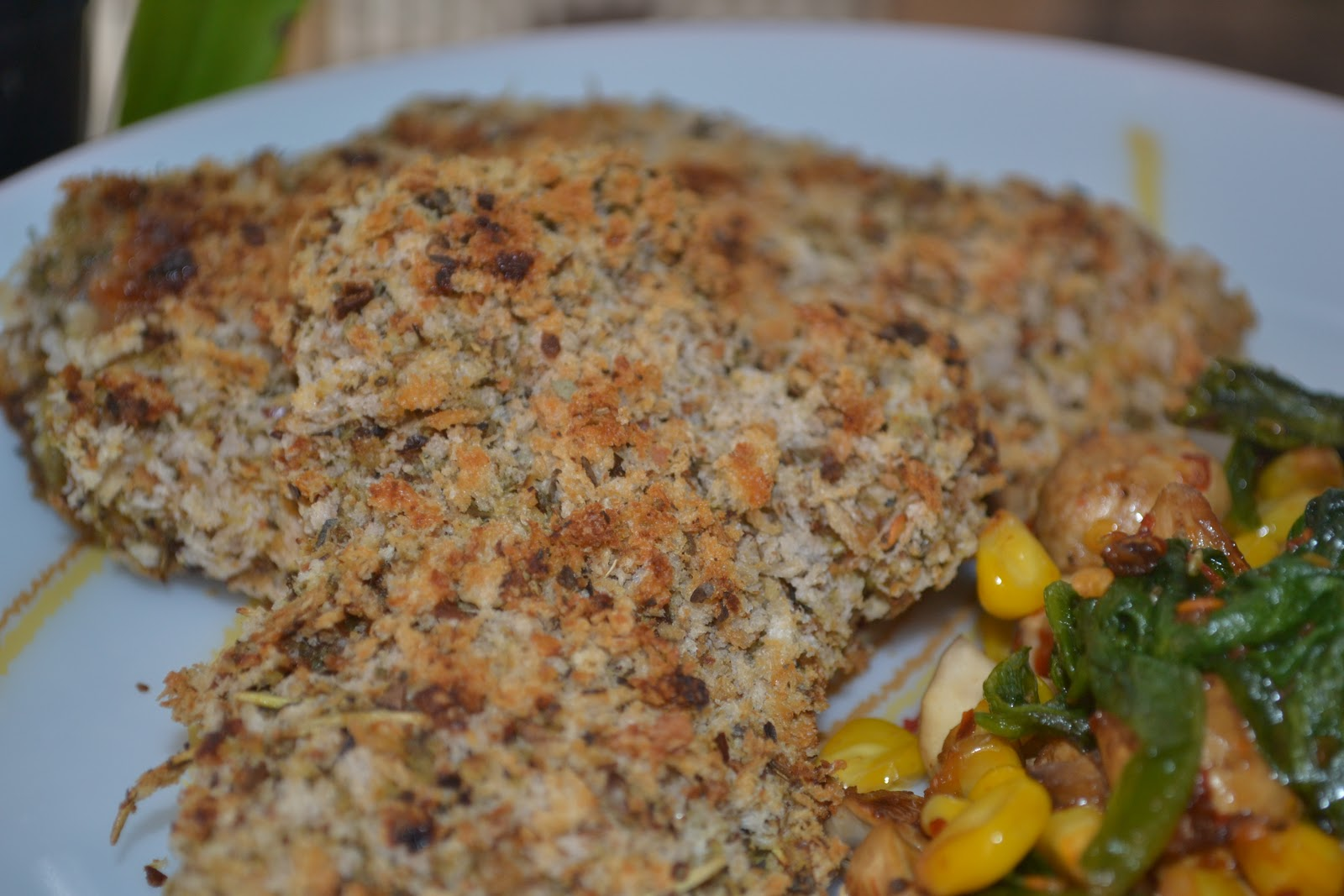 Food & More...much more: Herb Crusted Chicken Breasts - Baked
