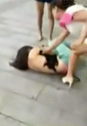 Chinese woman beaten and stripped are not