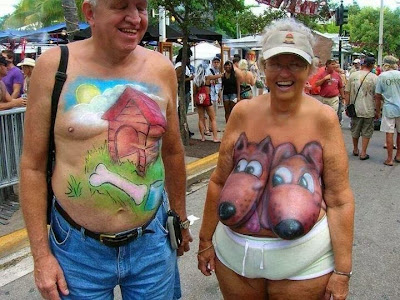 Body paint de humor