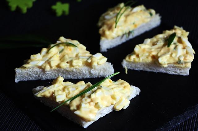 Eiersandwiches - alle Zutaten selbstgemacht