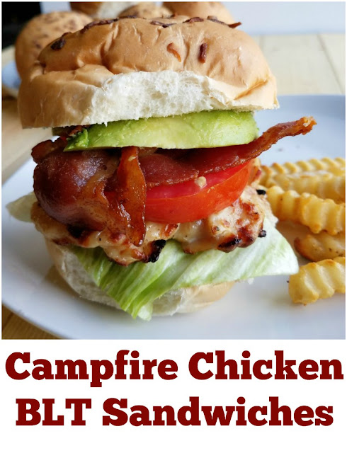When you can't decide between grilled chicken and a BLT, have both! This sandwich is delicious and fun.  Make it over the campfire, the grill or in the house, just make it!