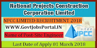 National Projects Construction Corporation Recruitment 2018– Site Engineer