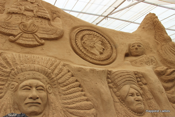 ancient civilization sand sculpture