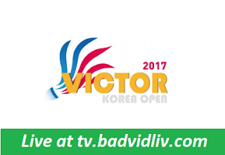Victor Korea Open 2017 live streaming and videos