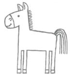 Pferd aus Stampin' Up! tierische Grüße