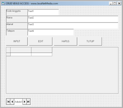 Download CRUD VB 6.0 Database Access