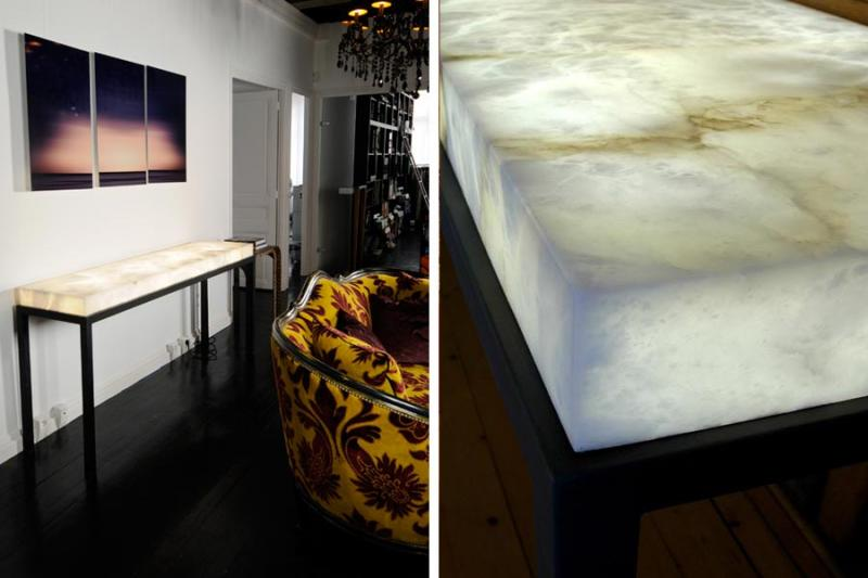 Indoor And Outdoor Alabaster Furnishings That Glow From Within.   If Itu0027s  Hip, Itu0027s Here