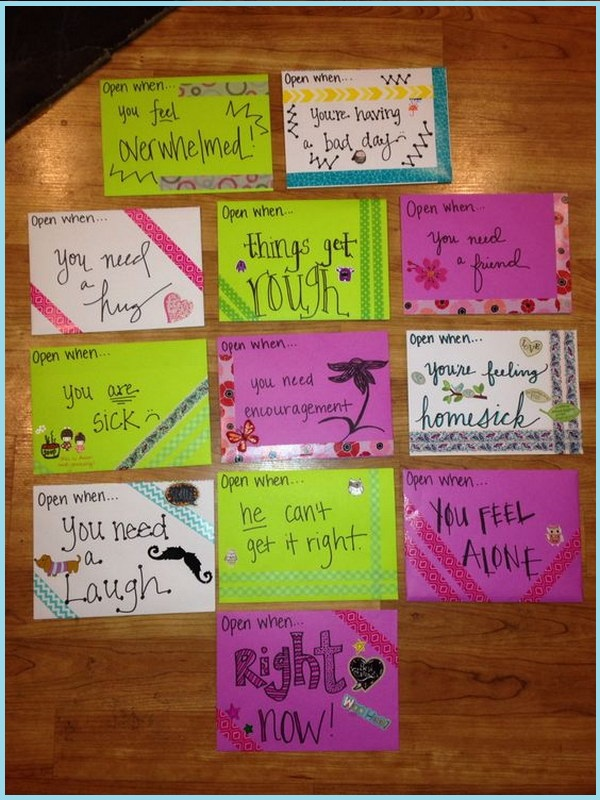 Open When You First Receive These Letters Ideas
