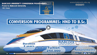 Babcock University Conversion (HND to B.Sc) Form 2020/2021