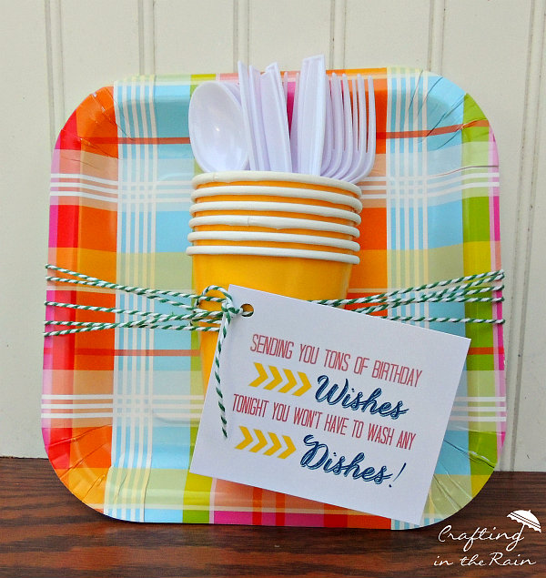 Paper Plate Gift Idea