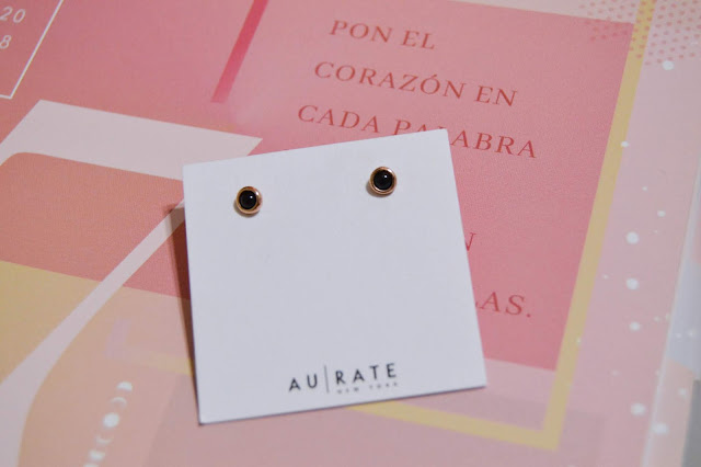 AUrate Mini Charm Circle Studs Earrings