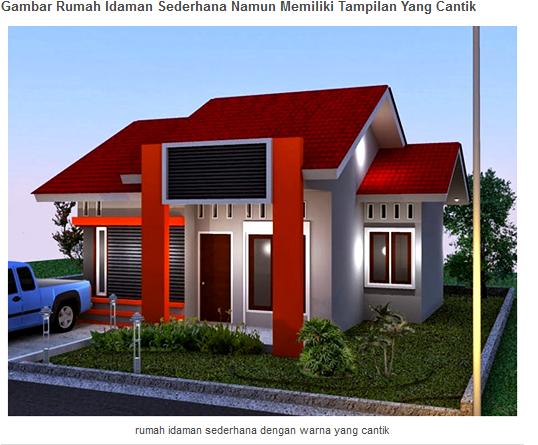 ... nah bagi anda yang sedang ingin membangun hunian dengan lahan terbatas berikut ini ada referensi gambar model rumah idaman sederhana namun cantik. & Model Rumah Idaman Sederhana Tapi Cantik - Rumah Masakini 31