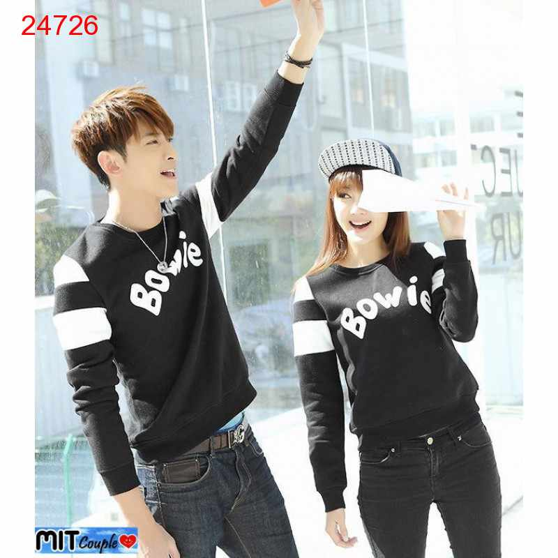 Jual Sweater Couple Sweater Bowie - 24726