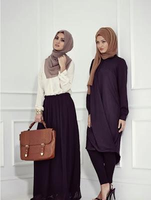 penampilan hijab modis kantor