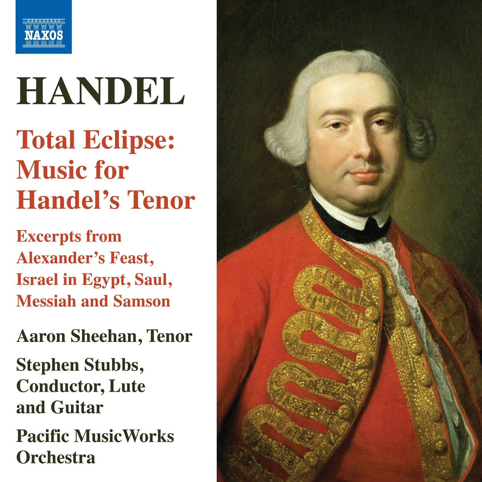 April 2019 RECORDING OF THE MONTH: Georg Friedrich Händel - TOTAL ECLIPSE: MUSIC FOR HANDEL'S TENOR (Naxos 8.573914)