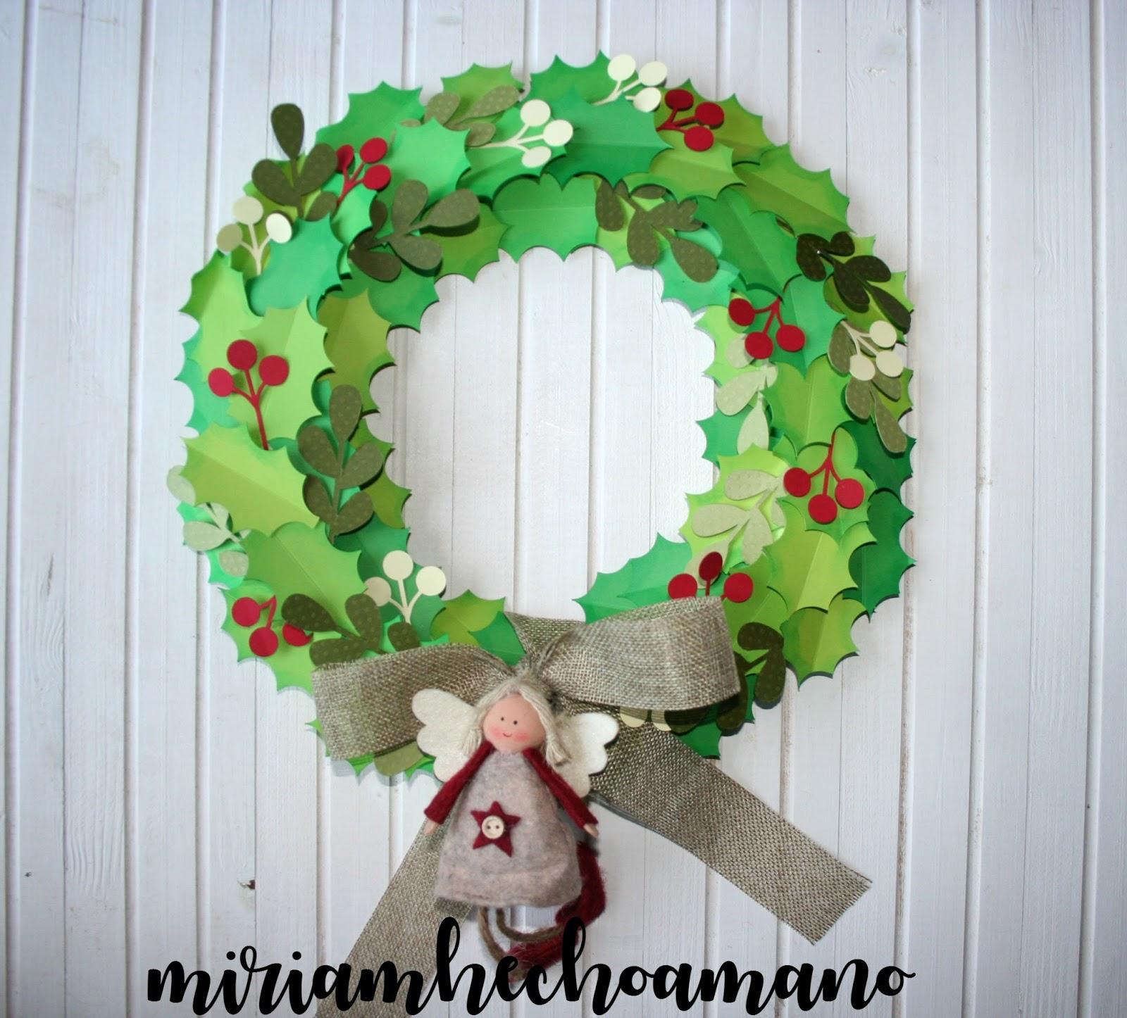 Miriam Hecho A Mano Corona Navideña Hecha A Mano Decoración De Navidad Con Mi Silhouette Cameo