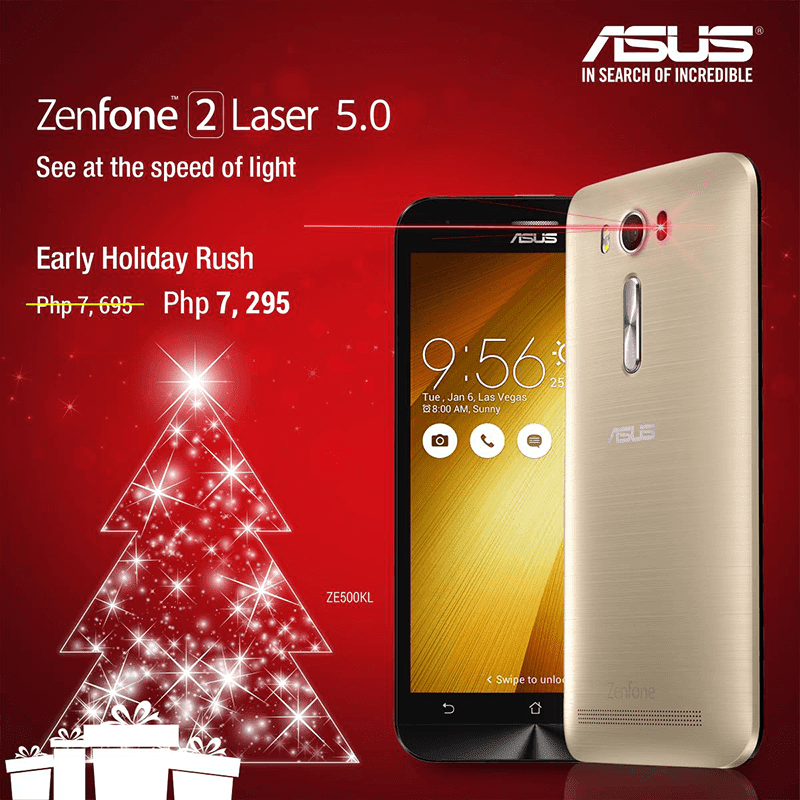 Asus Now Number 2 In SEA Region, Cuts The Price Of ZenFone 2 Laser 5 Inch To Just 7295 Pesos!