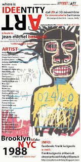 "where is  IDEENTITY  ART   tribute to: jean-michel basquait  ""SAMO© SAVES IDIOTS"""