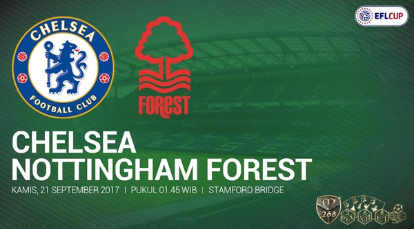 Prediksi Bola : Chelsea Vs Nottingham Forest , Kamis 21 September 2017 Pukul 01.45 WIB