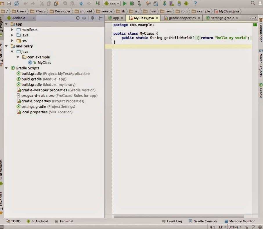 How to share code across projects using Android Studio