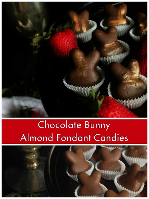 chocolate bunny almond fondant candy