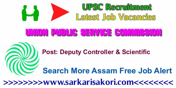 UPSC Recruitment 2017 Deputy Controller & Scientific Officer