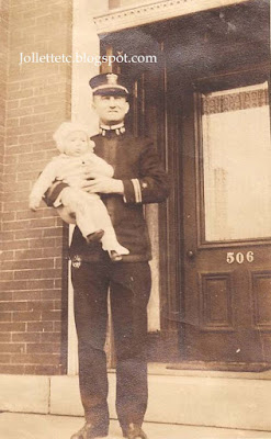 Unidentified man with John Jr. 1918  https://jollettetc.blogspot.com