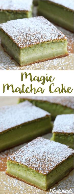 Matcha Magic Cake