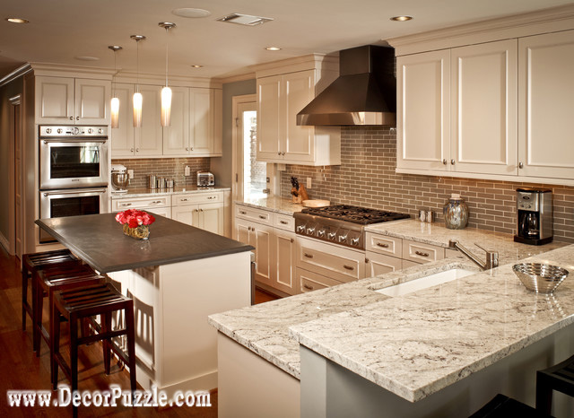 Fantasy Of River White Granite Countertops For Traditional Kitchen Images