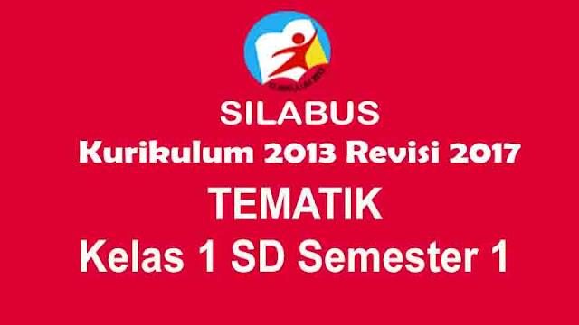 Silabus Kelas 1 SD Kurikulum 2013 Revisi 2017
