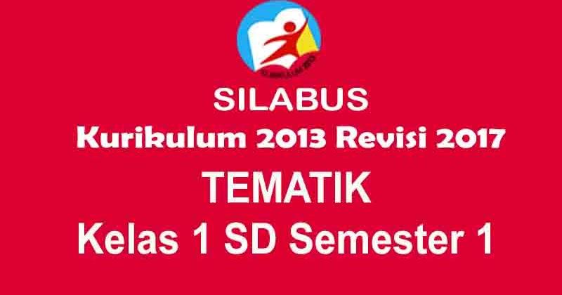 Silabus Tematik Kelas 1 SD Semester 1 Kurikulum 2013