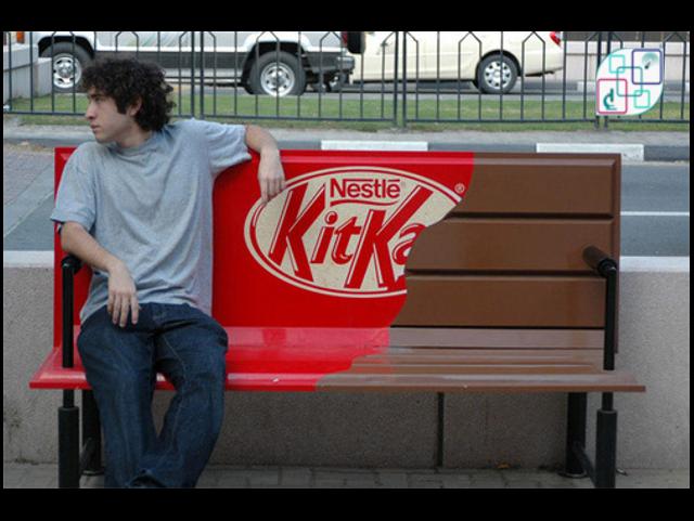 """مقاعد للإستراحة من شوكولاتة كيت كيت """"kit kat"""""""