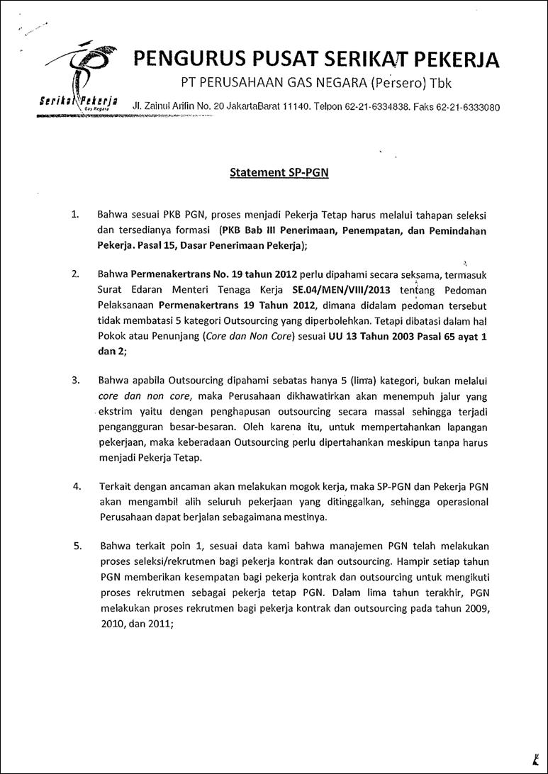 Contoh Surat Dispensasi Serikat Pekerja - Surat 28