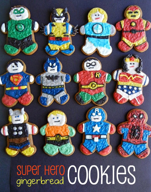 Super Hero Gingerbread Cookies