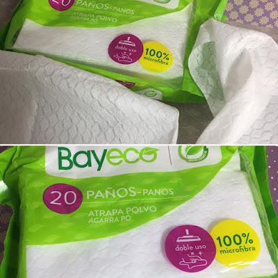 Bayeco, limpieza solo con agua, limpieza ecologica, paños atrapa polvo,