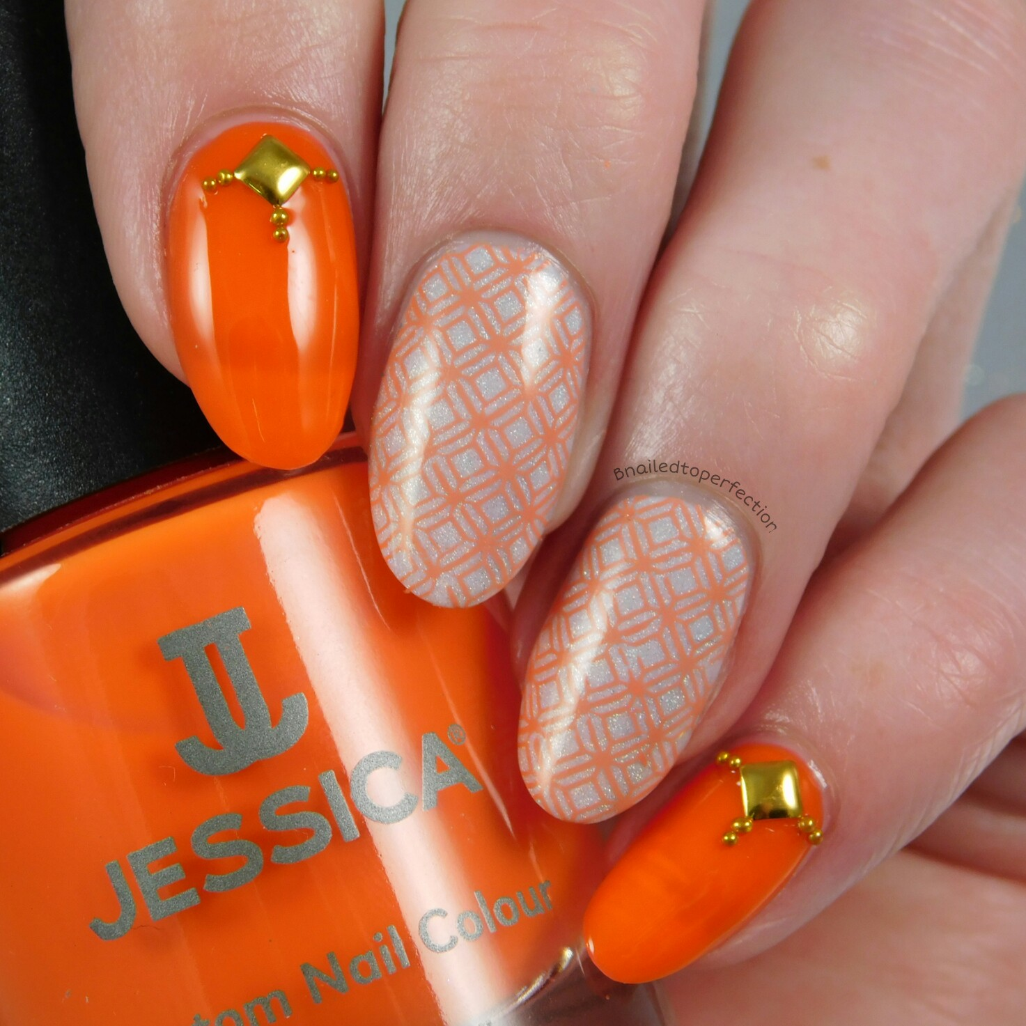 B Nailed To Perfection 40 Great Nail Art Ideas Coral And White