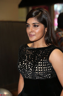 Niveda Thomas Black Sleeveless Cute Dress at 64th Jio Filmfare Awards South 2017 ~  Exclusive 079.JPG