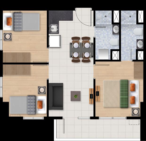 Ascentia Condominium 3 Bedroom Unit