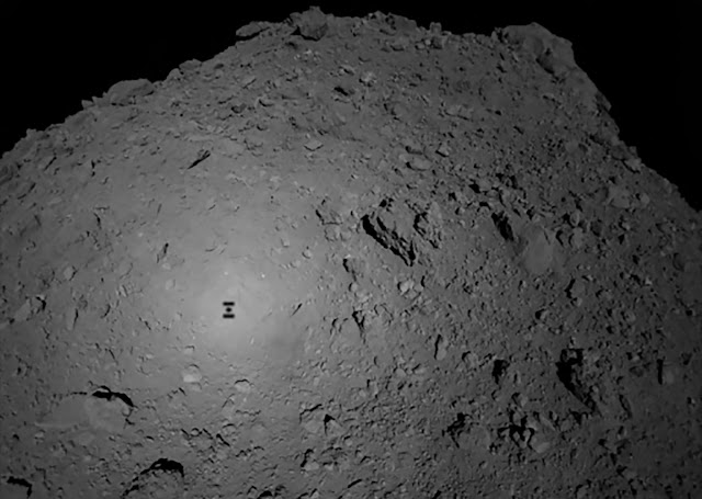 See the pit impacted into a space rock by a Japanese shuttle - rictasblog