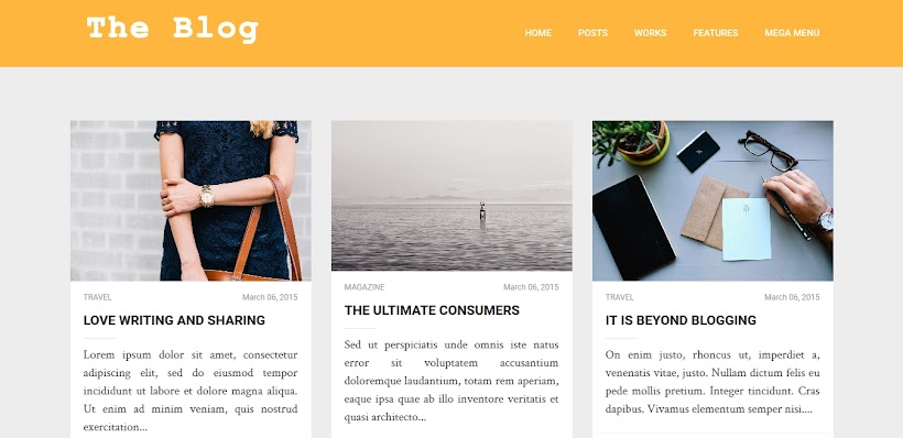 TheBlog Free Blogger Template