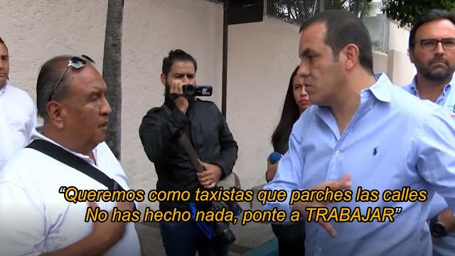 Taxista con pantalones encara a Cuauhtemoc Blanco y le pide que deje de robar y trabaje (VIDEO)