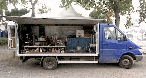 French farrier's truck open
