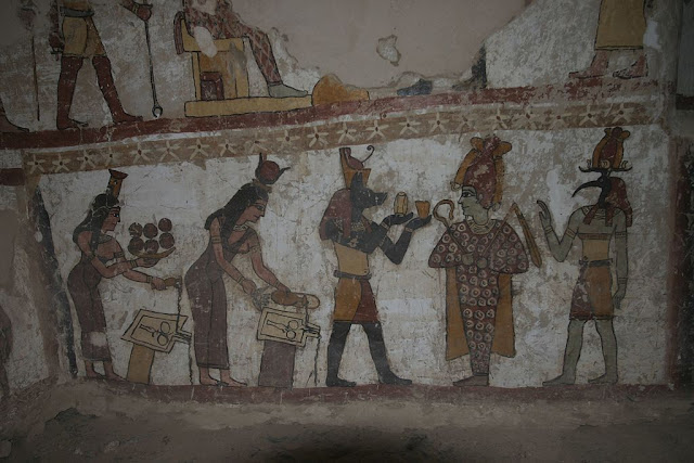 Paintings from the tomb of Petosiris at Muzawaka (XI)