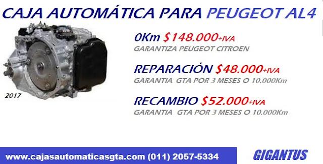 encontra caja automatica peugeot en venta