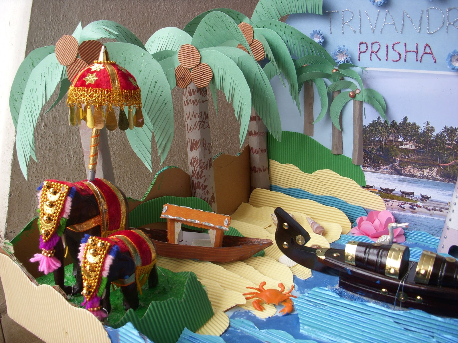 Kids Diorama With Details: Cards ,Crafts ,Kids Projects: Diorama-Kerala,India