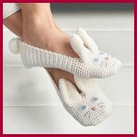 Zapatillas conejito a crochet