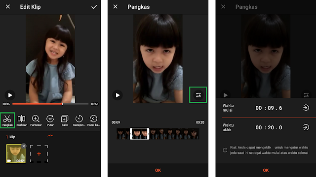 Cara Potong Video Di HP Android
