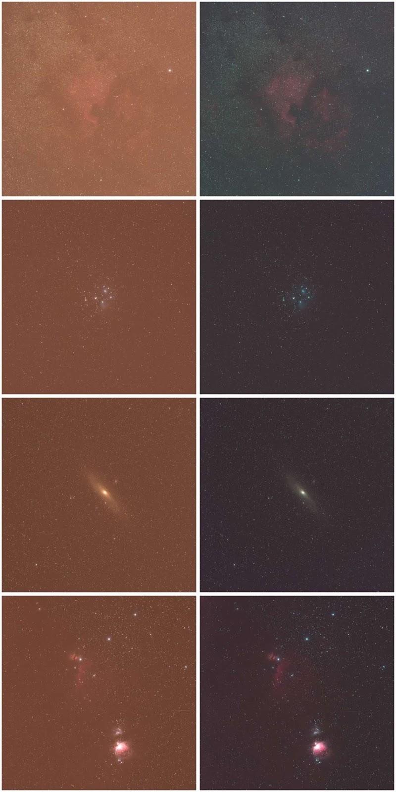 Влияние фильтра STC Astro-Multispectra на снимки